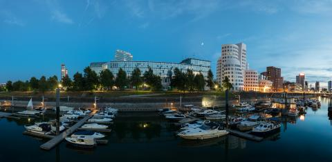 Dusseldorf media harbor panorama- Stock Photo or Stock Video of rcfotostock | RC-Photo-Stock