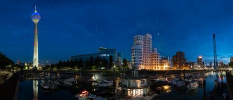 Dusseldorf media harbor panoramic view- Stock Photo or Stock Video of rcfotostock | RC-Photo-Stock