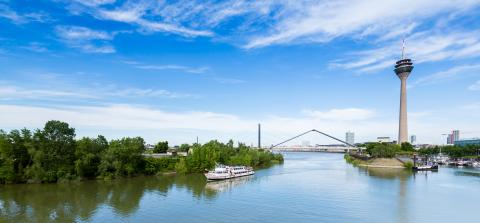 Dusseldorf media harbor view at summer- Stock Photo or Stock Video of rcfotostock | RC-Photo-Stock