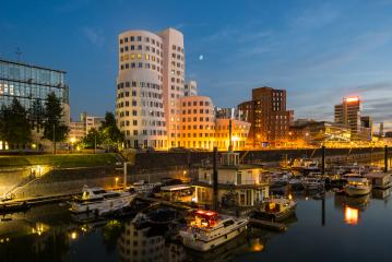 dusseldorf medienhafen at night- Stock Photo or Stock Video of rcfotostock | RC-Photo-Stock