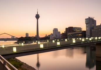 Dusseldorf medienhafen at the sunrise- Stock Photo or Stock Video of rcfotostock | RC-Photo-Stock