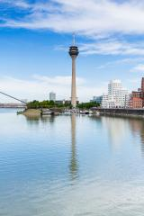 Dusseldorf Medienhafen skyline tv tower at summer- Stock Photo or Stock Video of rcfotostock | RC-Photo-Stock