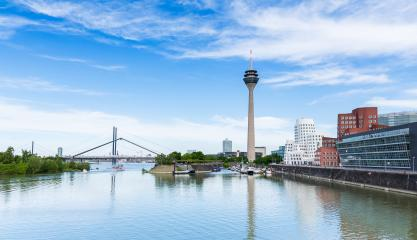 Dusseldorf Medienhafen skyline view at a cloudy day : Stock Photo or Stock Video Download rcfotostock photos, images and assets rcfotostock | RC-Photo-Stock.: