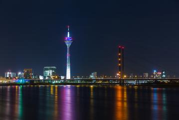 Dusseldorf night skyline : Stock Photo or Stock Video Download rcfotostock photos, images and assets rcfotostock | RC-Photo-Stock.: