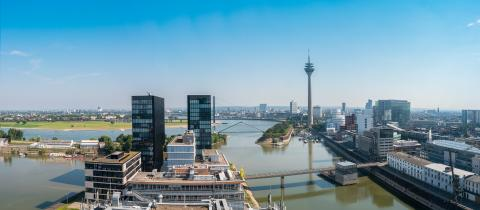 Dusseldorf Panorama - Stock Photo or Stock Video of rcfotostock | RC-Photo-Stock