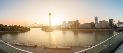 dusseldorf panorama at sunset- Stock Photo or Stock Video of rcfotostock | RC-Photo-Stock