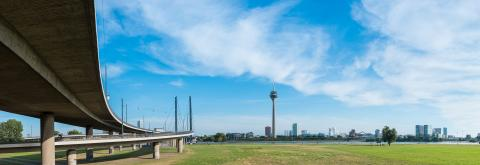Dusseldorf panorama at the rhine shore, germany- Stock Photo or Stock Video of rcfotostock | RC-Photo-Stock