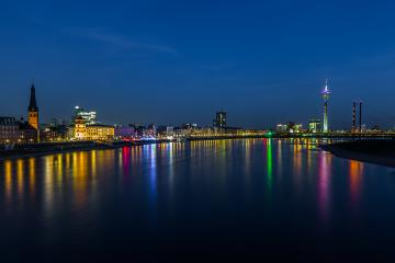 Dusseldorf skyline at night : Stock Photo or Stock Video Download rcfotostock photos, images and assets rcfotostock | RC-Photo-Stock.: