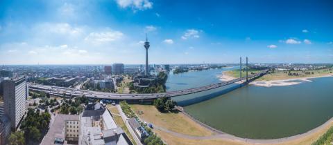 Dusseldorf skyline panorama- Stock Photo or Stock Video of rcfotostock | RC-Photo-Stock