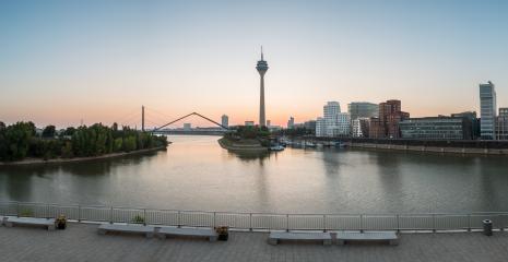 Dusseldorf sunrise panorama- Stock Photo or Stock Video of rcfotostock | RC-Photo-Stock