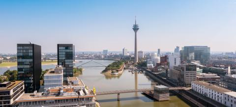 Dusseldorf Sykline at summer- Stock Photo or Stock Video of rcfotostock | RC-Photo-Stock