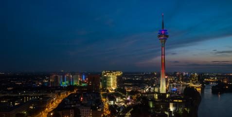Dusseldorf Sykline view at night, germany- Stock Photo or Stock Video of rcfotostock | RC-Photo-Stock