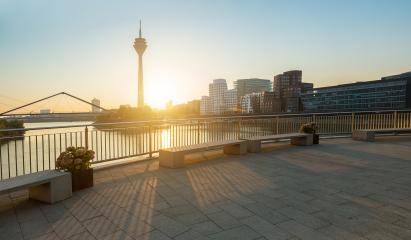 Dusseldorf view at a summer morning- Stock Photo or Stock Video of rcfotostock | RC-Photo-Stock