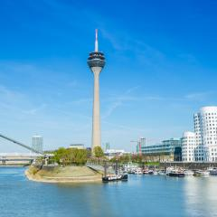 Dusseldorf with Rheinturm tower : Stock Photo or Stock Video Download rcfotostock photos, images and assets rcfotostock | RC-Photo-Stock.: