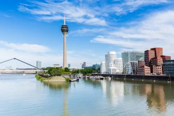 dusseldorf zollhof skyline at summer : Stock Photo or Stock Video Download rcfotostock photos, images and assets rcfotostock | RC-Photo-Stock.: