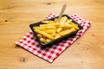 Dutch fries in a shell on a tablecloth- Stock Photo or Stock Video of rcfotostock | RC-Photo-Stock