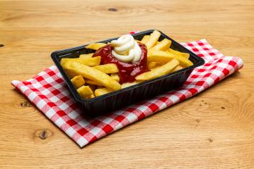 dutch fries with ketchup and mayonnaise- Stock Photo or Stock Video of rcfotostock | RC-Photo-Stock
