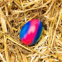 easter egg in rainbow color on straw- Stock Photo or Stock Video of rcfotostock | RC-Photo-Stock