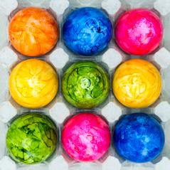 easter eggs from the farm in a egg box- Stock Photo or Stock Video of rcfotostock | RC-Photo-Stock