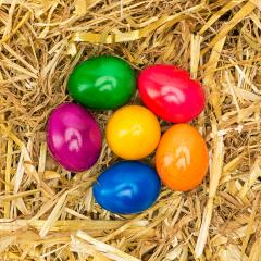 easter eggs in different colors on straw : Stock Photo or Stock Video Download rcfotostock photos, images and assets rcfotostock | RC-Photo-Stock.: