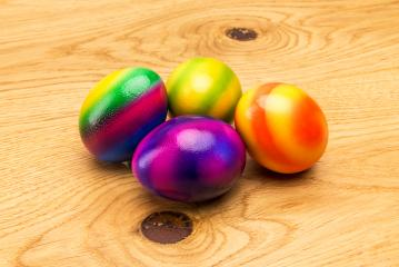 easter eggs on wood- Stock Photo or Stock Video of rcfotostock | RC-Photo-Stock