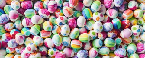 Easter eggs painted with water color for Easter as a panorama background : Stock Photo or Stock Video Download rcfotostock photos, images and assets rcfotostock | RC-Photo-Stock.: