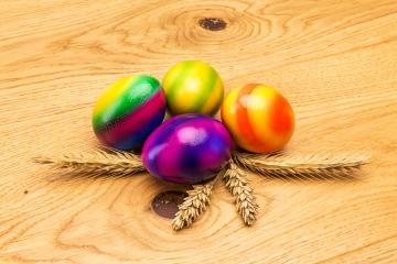 easter eggs with corn ears- Stock Photo or Stock Video of rcfotostock | RC-Photo-Stock