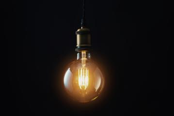 Edison Lightbulb on black background- Stock Photo or Stock Video of rcfotostock | RC-Photo-Stock