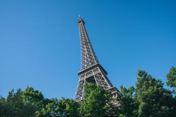Eiffel Tower against blue sly, Paris France- Stock Photo or Stock Video of rcfotostock | RC-Photo-Stock