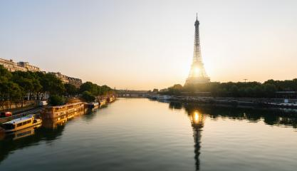 Eiffel tower at sunrise, Paris. France- Stock Photo or Stock Video of rcfotostock | RC-Photo-Stock