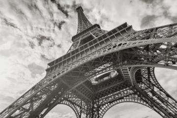 Eiffel Tower in black and white colors : Stock Photo or Stock Video Download rcfotostock photos, images and assets rcfotostock | RC-Photo-Stock.: