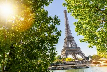 Eiffel Tower in Paris at summer- Stock Photo or Stock Video of rcfotostock | RC-Photo-Stock