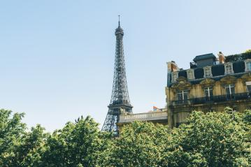 Eiffel Tower, Paris, France, copyspace for your individual text.- Stock Photo or Stock Video of rcfotostock | RC-Photo-Stock