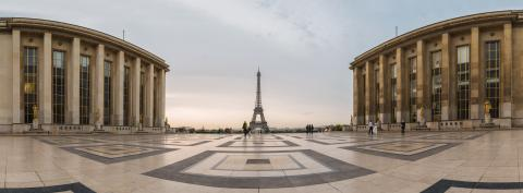 Eiffel Tower Paris Panorama, View over the Tour Eiffel from Trocadero square (Place du Trocadero). Paris, France- Stock Photo or Stock Video of rcfotostock | RC-Photo-Stock