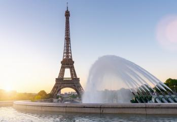 Eiffel tower seen from Trocadero fountain square- Stock Photo or Stock Video of rcfotostock | RC-Photo-Stock
