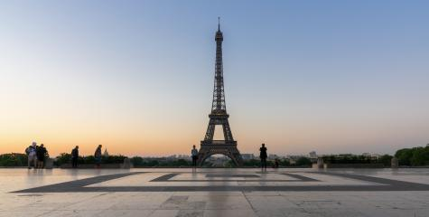 Eiffel tower seen from Trocadero square at sunrise- Stock Photo or Stock Video of rcfotostock | RC-Photo-Stock