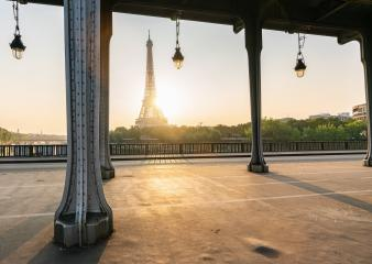 Eiffel tower view at sunrise at the Bir-Hakeim bridge, Paris. France- Stock Photo or Stock Video of rcfotostock | RC-Photo-Stock