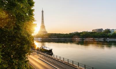 Eiffel tower view at sunrise, Paris. France- Stock Photo or Stock Video of rcfotostock | RC-Photo-Stock