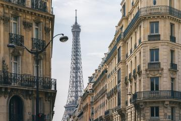 Eiffel Tower view at the old town of Paris- Stock Photo or Stock Video of rcfotostock | RC-Photo-Stock
