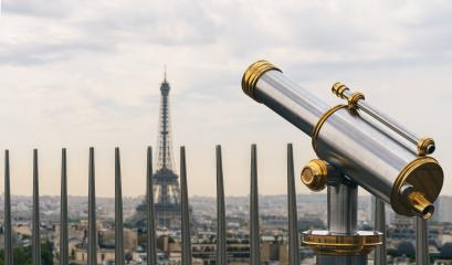 Eiffel tower view with Telescope, Paris. France- Stock Photo or Stock Video of rcfotostock | RC-Photo-Stock