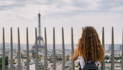 Eiffel tower view with woman, Paris. France- Stock Photo or Stock Video of rcfotostock | RC-Photo-Stock