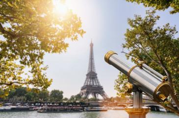 Eiffel tower with Telescope, Paris. France : Stock Photo or Stock Video Download rcfotostock photos, images and assets rcfotostock | RC-Photo-Stock.: