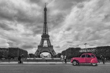 Eiffel Tower with vintage Car in Paris- Stock Photo or Stock Video of rcfotostock | RC-Photo-Stock