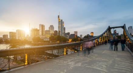 Eiserner Steg in Frankfurt at sunset- Stock Photo or Stock Video of rcfotostock   RC-Photo-Stock
