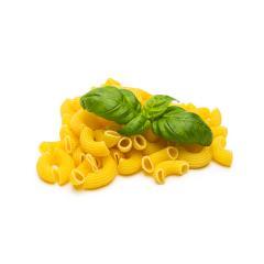 Elbow macaroni with basil- Stock Photo or Stock Video of rcfotostock   RC-Photo-Stock
