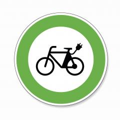 Electric bike traffic sign. German sign Electric bike, electro bicycle E-Bike E Bike Ebike electric bike electro bicycle eco friendly on white background. Vector Eps 10. : Stock Photo or Stock Video Download rcfotostock photos, images and assets rcfotostock | RC-Photo-Stock.: