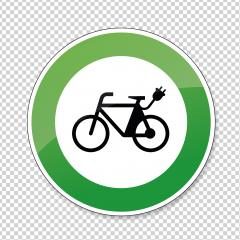 Electric bike traffic sign. German sign Electric bike, electro bicycle E-Bike E Bike Ebike electric bike electro bicycle eco friendly on checked transparent background. Vector Eps 10. : Stock Photo or Stock Video Download rcfotostock photos, images and assets rcfotostock | RC-Photo-Stock.: