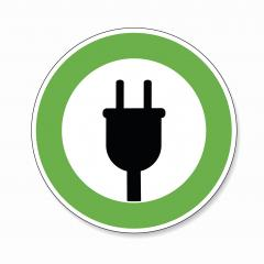 Electric Charging station sign. German traffic sign Electric vehicle recharging point Ecology friendly electric car charging on white background. Vector illustration. Eps 10 vector file.- Stock Photo or Stock Video of rcfotostock | RC-Photo-Stock