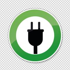 Electric Charging station sign. German traffic sign Electric vehicle recharging point Ecology friendly electric car charging on checked transparent background. Vector illustration. Eps 10 vector file.- Stock Photo or Stock Video of rcfotostock | RC-Photo-Stock