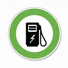 Electric Charging station traffic sign. German sign Electric vehicle recharging point Ecology friendly electric car charging on white background. Vector illustration. Eps 10 vector file.- Stock Photo or Stock Video of rcfotostock | RC-Photo-Stock